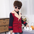 High quality Double Breasted Kids Boys Wool Coat British Style lapel Children Winter Clothes Thicken Cotton Boy Wool Jacket