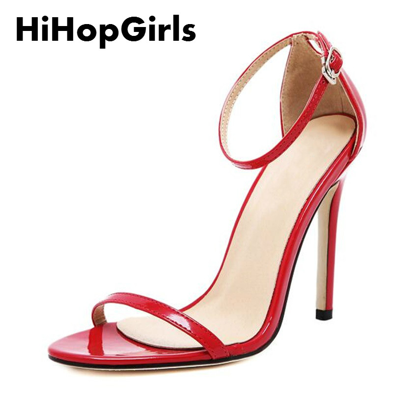 HiHopGirls new summer women high heels sandals shoes woman party wedding ladies pumps ankle strap buckle stilettos sexy shoes new vogue celebrity brand desiger women sandals stiletto feather hairy buckle strap high heels bridesmaid bridal wedding pumps