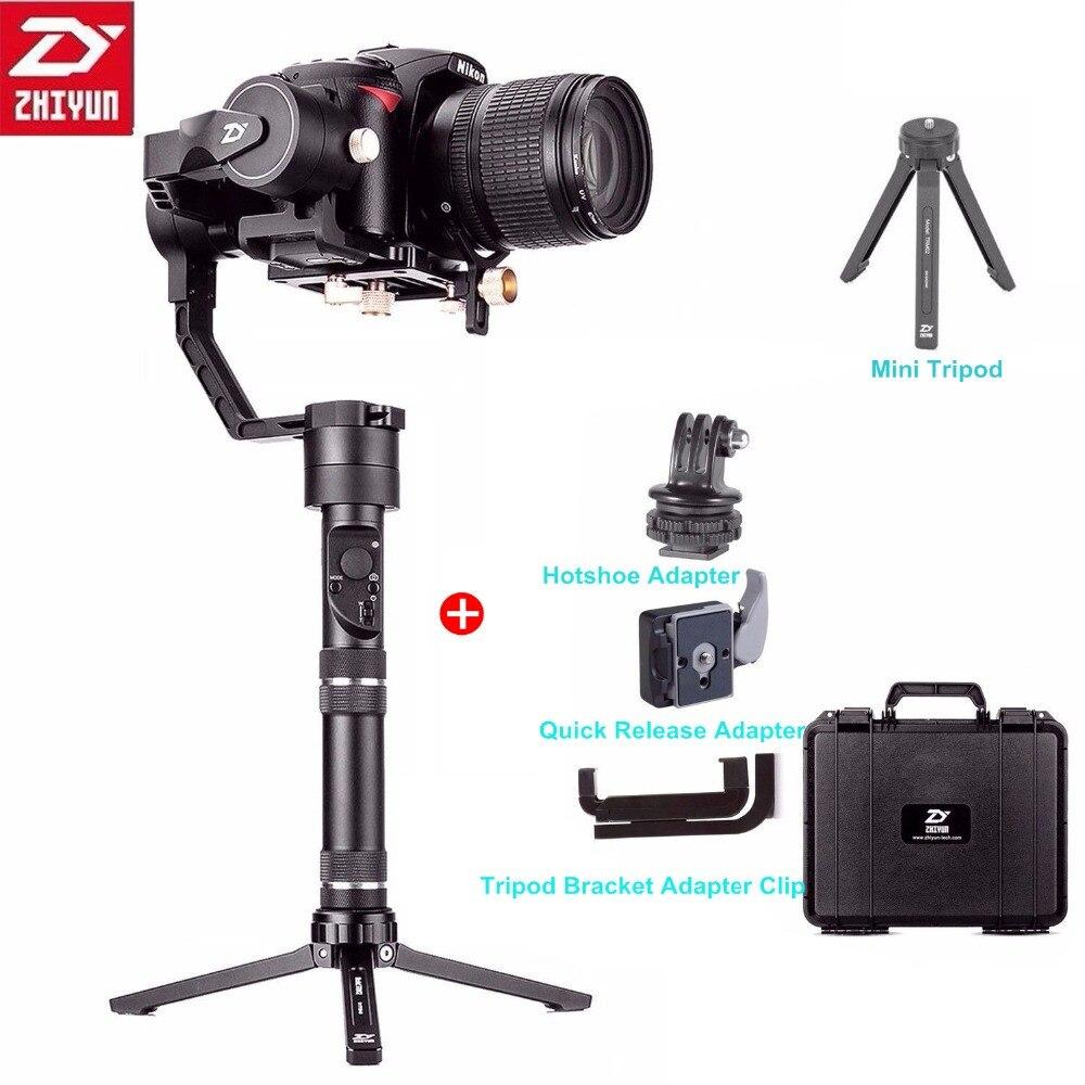 Zhiyun grue Plus 3 axes stabilisateur de cardan portatif 2.5KG charge utile pour Sony Panasonic Canon Nikon Dsrls appareil photo sans piles