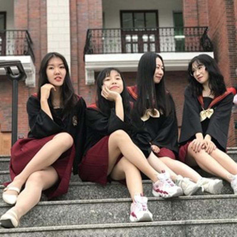Harri Potter Skirts Cosplay Costumes School Hermione Granger Hogwarts Skirt Womens Pleated A-line Sailor Skirt College Uniform