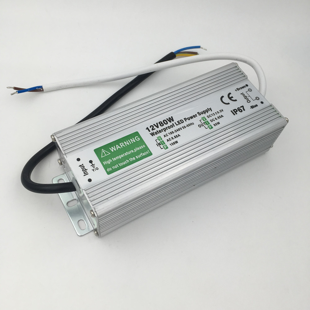 DC 12V LED Power Supply 60W 80W 100W Transformer