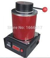 Автоматический электрический плавильной печи Silver & Gold Pour бар 2 кг Crucible + tong цифровой контроллер 110 В и 220 В Ne