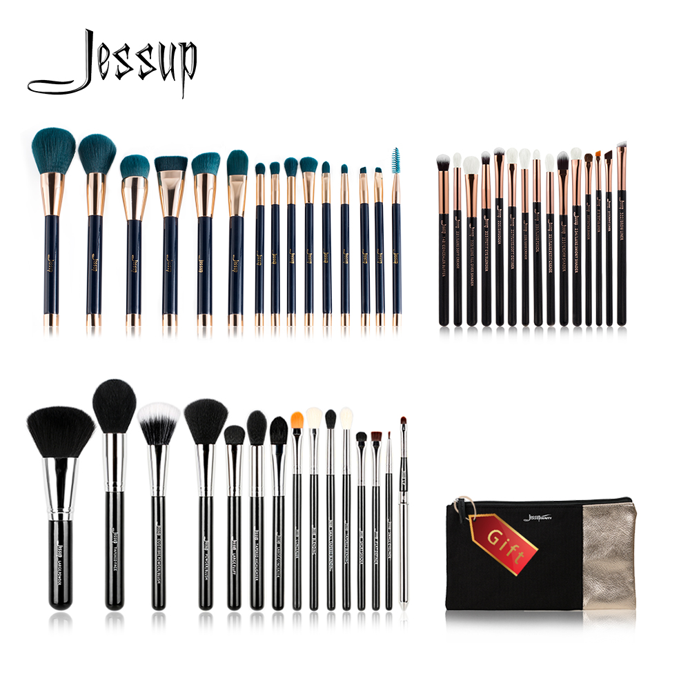 Jessup Buy 3 get 1 gift Makeup Brushes set Powder Foundation Eyeshadow Eyeliner Lip Contour Concealer Smudge Make up Brush Tools new pro 22pcs cosmetic makeup brushes set bulsh powder foundation eyeshadow eyeliner lip make up brush high quality maquiagem