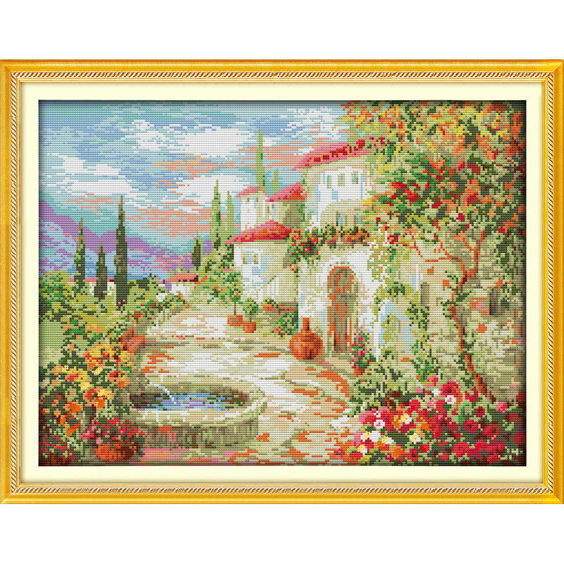 Everlasting love A beautiful garden Chinese cross stitch kits Ecological cotton stamped 11CT Christmas New year sales promotion