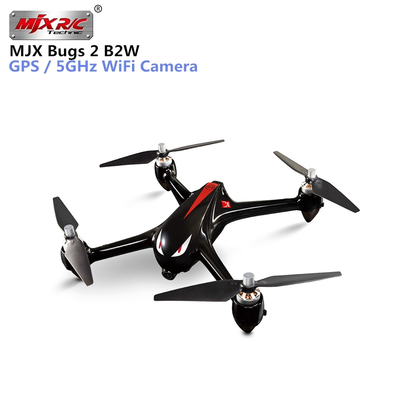 MJX Bugs 2 W B2W RC Quadcopter 2.4G 6-Axis Gyro GPS Brushless Motor RC Drone With WIFI 1080P Camera FPV RC Helicopter VS H501S ditmo dm 4900 foldable wired 3 5mm plug stereo headset headphones w microphone for iphone 5 white