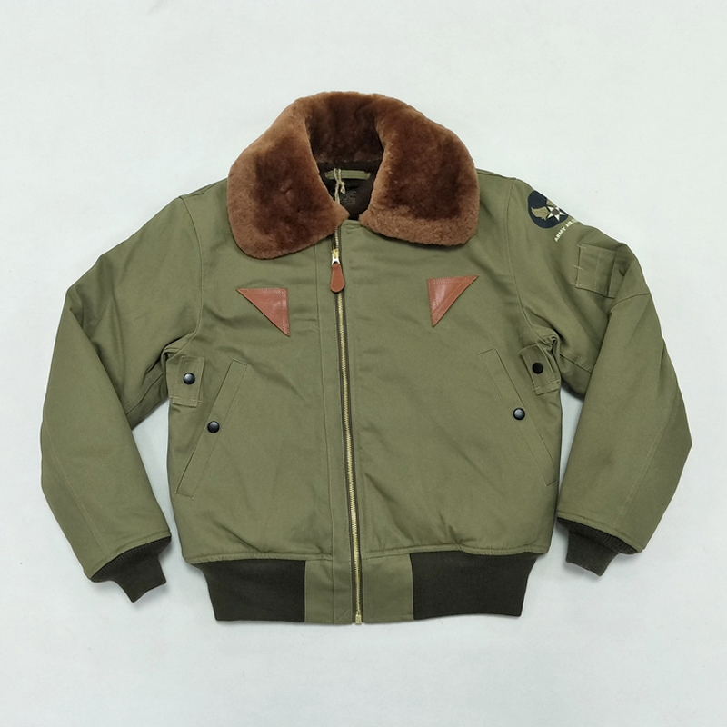 BOB DONG B 15A Flight Jacket For Men USAF Air Force Military Uniform Bomber B15-in Jackets from Men's Clothing
