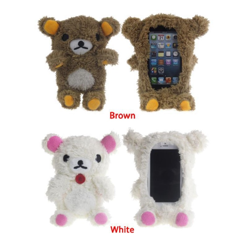new arrival dd0d5 b7840 US $7.86 45% OFF|Hot Sale Cute 3D Teddy Bear Doll Toy Plush Phone cases For  iphone 6 plus cell Phones back cover Housing-in Fitted Cases from ...