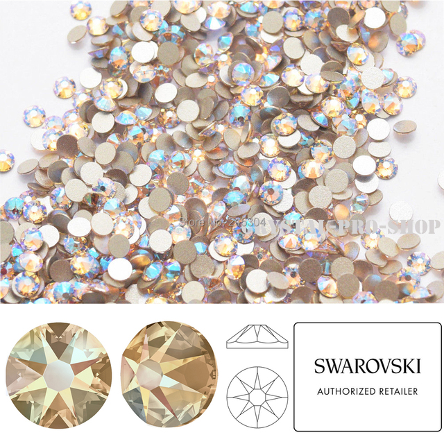 NEW Effect Swarovski Elements Silk Shimmer ( 391 SHIM ) ( ss5 - ss30 ) ( No  Hotfix ) Flat Back Crystal Loose Rhinestone Gem DIY 4bb34bbaf5fc