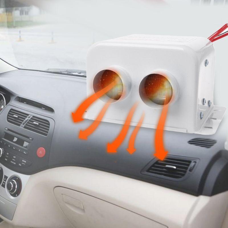 800 W 12 V 24 V voiture ventilateur chauffage fenêtre dégivreur Air chaud chauffage désembuage avec Double sortie de flux d'air