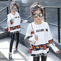 Girls White Sweaters Casual Knitted Sweaters For Girls Cartoon Pattern Costumes Children Knitwear Tops 4 6 8 10 11 12 Years