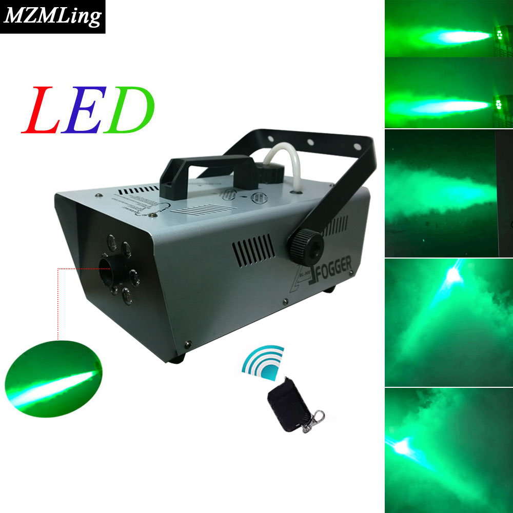 900w 1L Led Fog Machine 6x3w Smoke Machine Wire/Remote Control Professional DJ /Bar /Party /Show /Stage Fogger Stage Machine 1500w mist haze machine 3 5l fog machine dmx512 smoke machine dj bar party show stage light led stage machine fogger