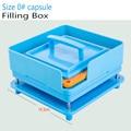 Máquina de cápsulas Encapsulador Manual/ABS Manual de la Cápsula de Relleno de Planchar/Dispositivo de Llenado De Cápsulas 0 # S-100 Agujeros 6 Unid/set