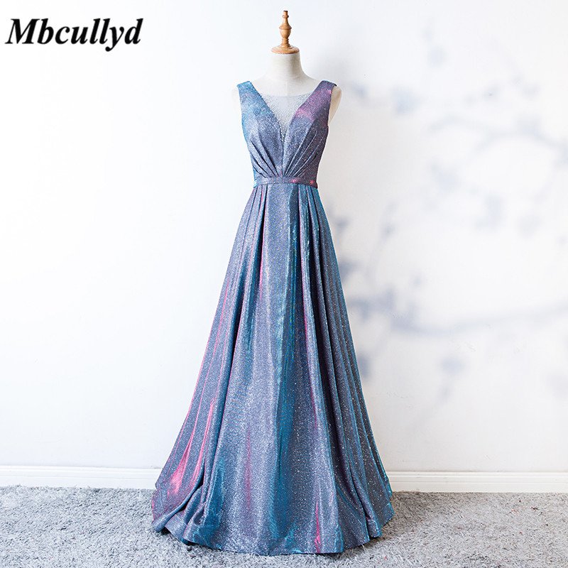 Mbcully Bridesmaid Dresses 2019 Sheer Scoop Neck Long Maid Of Honor Dress Party Wedding Guest For Women Cheap Free Shipping
