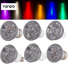 Высококачественный Светодиодный точечный светильник с регулируемой яркостью GU10/B22/E27/E14/E12/B15/GU5.3, 6 Вт, светодиодные лампы постоянного тока 12 В, 8 цветов, светодиодный светильник 1 шт