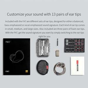 Image 5 - FiiO FA7 היי Res נואלס Quad נהג אבזור מאוזן HiFi באוזן אוזניות מוניטורים עם MMCX להסרה כבל DLP 3D מודפס