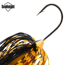 SeaKnight SK101 SK102 Spinnerbait 10g 14g Hard Fishing Lure 4PCS Double Spoons Spinner Baits Bass Lure Lead Hook Fishing Tackles