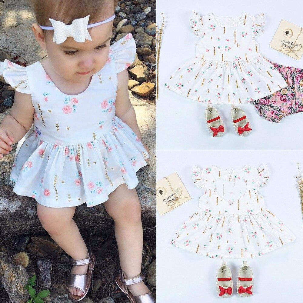 Pasgeboren baby kinderen baby meisjes jurk prinses partij bruiloft - Babykleding