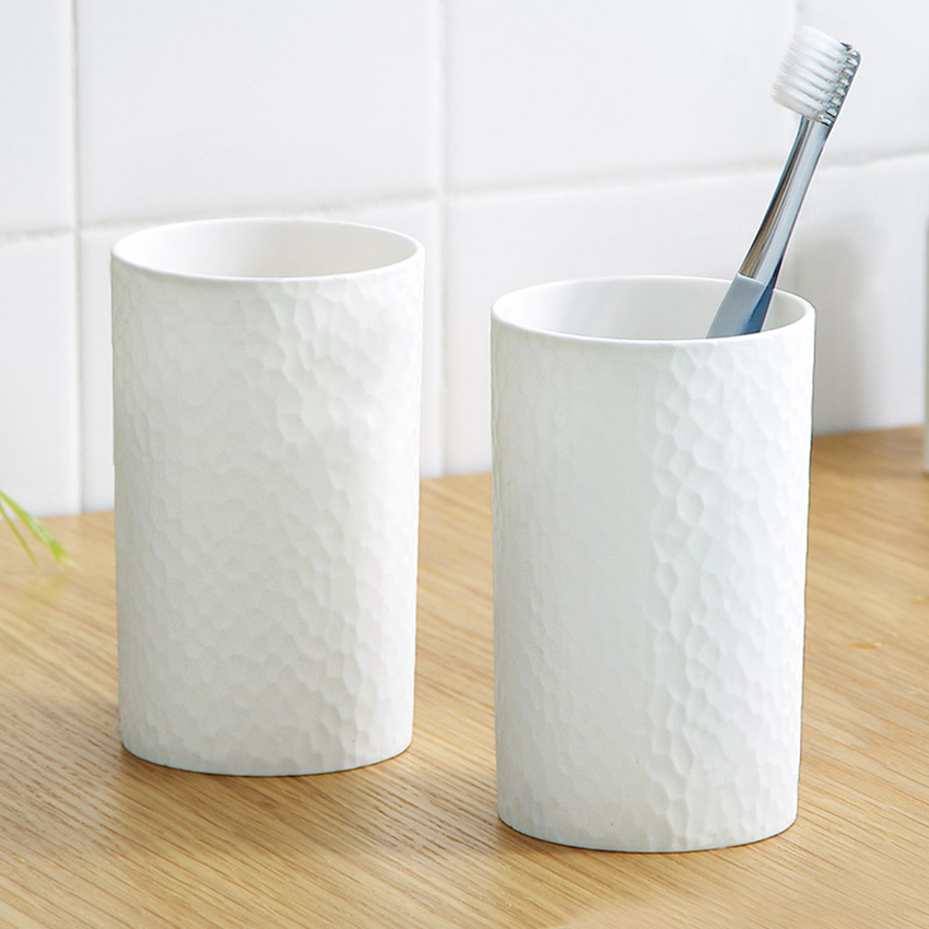 1PC 300ml Plastic Japanese-style Thick Circular Cups Toothbrush Holder Cup PP Rinsing Cup Wash Tooth Mug Bathroom Sets