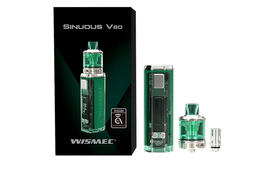 wismec sinuous p80, Newest Original WISMEC SINUOUS V80 80W TC Kit with 2ml/3ml Amor NSE Atomizer Tank MTL/DL Vape Kit VS Sinuous P80 Kit Ecig Vape