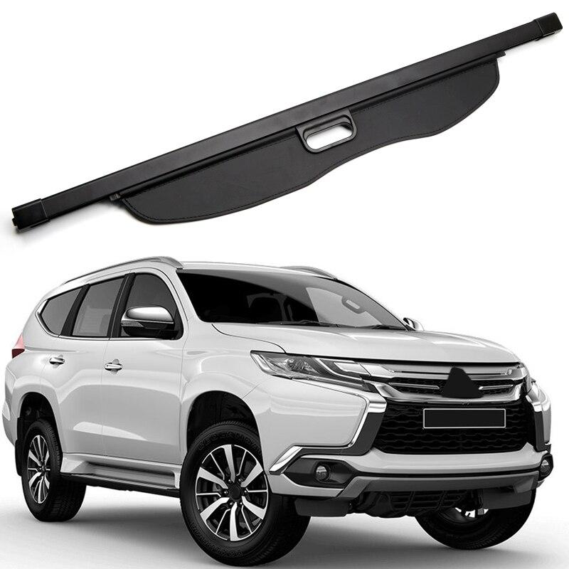 Pour Mitsubishi Pajero SPORT/Montero SPORT/Shogun Sport 2016 2017 2018 noir voiture arrière coffre Cargo ombre couverture de sécurité bouclier