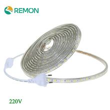 AC 220V LED Strip Light SMD 5050 60leds/m IP67 Waterproof LED Flexible Tape 1M/2M/3M/4M/5M/6M/7M/8M/9M/10M/15M/20 + Power Plug