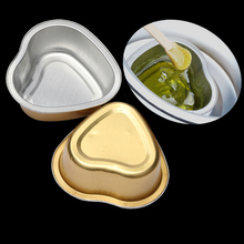 3pcs Heart Shape Wax Beans Bowl Alminum Foil Hair Removal Hot Film Hard Pellet Waxing Tools Depilatory