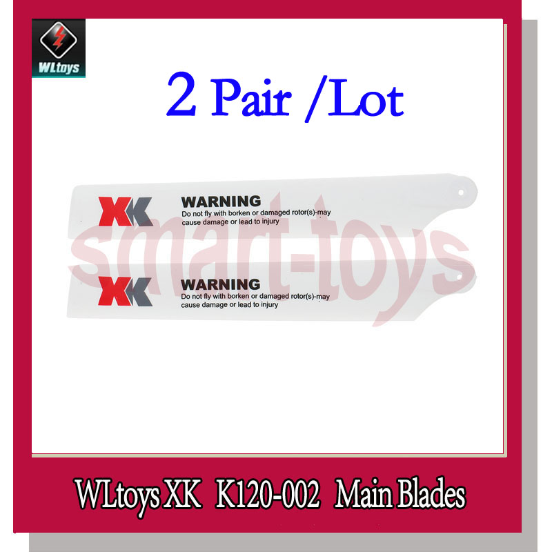2Pair K120 Main Blade Propeller K120-002 for Wltoys XK K120 RC Helicopter Spare Parts