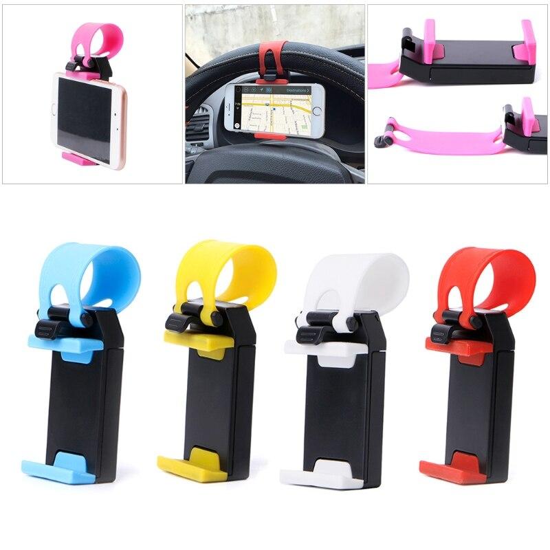Universal Hands Free Mobile <font><b>Phone</b></font> Holder Mount Clip Buckle Socket <font><b>On</b></font> Car Bicycle Steering <font><b>Wheel</b></font> For <font><b>Phone</b></font> GPS Ipad New