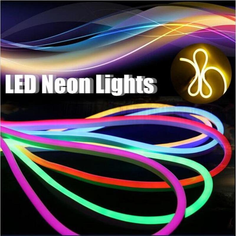 Us 346 94 17 Off 110v 220v 12v 24v Flexible Led Neon Flex Rope Bar Light Smd 2835 Outdoor Indoor White Rgb Soft Strip Lights Free Shipping In