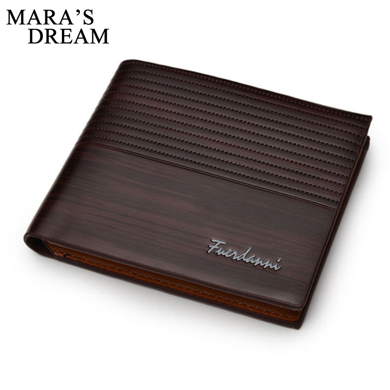 Mara's Dream Hot Sale Fashion Men Wallets Design Quality Casual Short Style Card Holder Purses Men's Wallets Free Shipping hot sale leather men s wallets famous brand casual short purses male small wallets cash card holder high quality money bags 2017