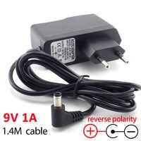 AC DC 9V 1A 1000ma Power adapter reverse polarity Converter adaptor Inside Negative EU 5.5mm x2.5mm Power supply plug cable
