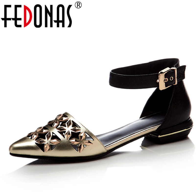 FEDONAS Women Mary Jane Genuine Leather Wedding Shoes Brand Ankle Strap Low Heels Classic Ladies Gold Party Shoes Woman Pumps mary jane sterling u can algebra i for dummies