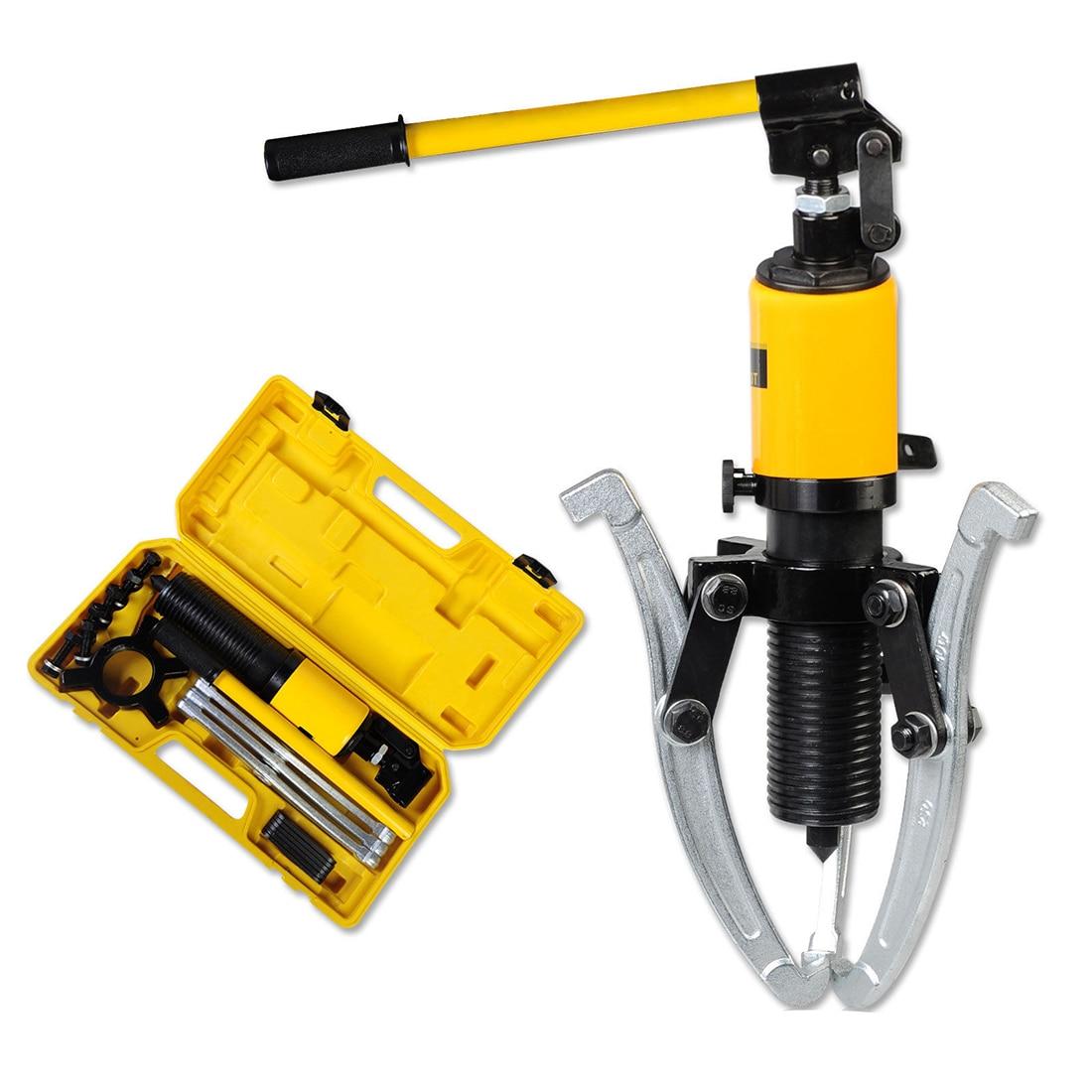 JEYL 10 Ton Hydraulic Puller Bearing Hub Separator Garage Tool Set Kit professional common rail injector puller set diesel engine garage tool set t10055 tdi