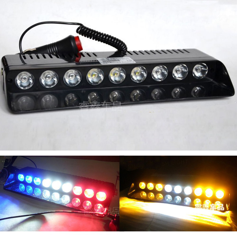9 LED Car Dash Windshield Emergency Warning Strobe Flash Light with Suction Cups