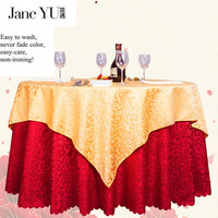 JaneYU 2019 joyous Round Double Stitched Satin Tablecloth in 3 colors Table Cover For Christmas Wedding Party Decoration