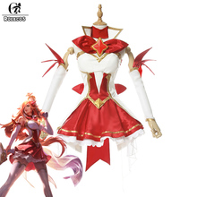 ROLECOS Brand New Game LOL Cosplay Costumes Star Guardian 2017 The Bounty Hunter Miss Fortune Cosplay Costume Top Skirt Full Set