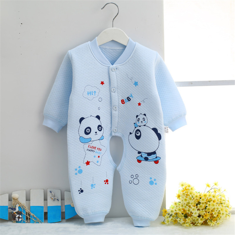 0-9 month Cotton Baby Rompers Wear Jumpsuits Kids panda baby boy clothes newborn infant baby girl costumes clothing SKA04 (2)