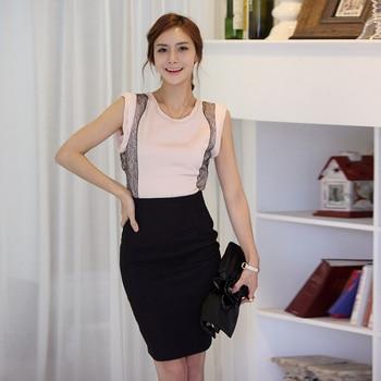 Pencil Skirt Women 2019 Elastic High Waist Slim Hips Red Black Formal Saias Feminino Lady OL Office Bodycon Skirts Plus Size 8
