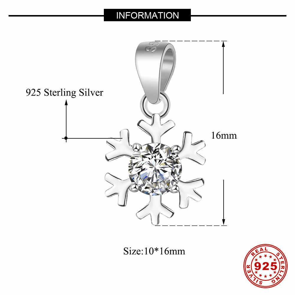 100% 925 Sterling Zilveren Sneeuwvlok Bedels Voor Vrouwen Ketting Vnistar Zon Star Charm Hangers Star Planet Charms Van Ketting