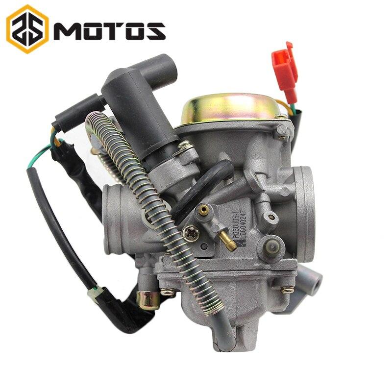 Carburateur ZS MOTOS KEIHIN PD30J pour carburateur de Scooter GY6-250 avec Jet de puissance