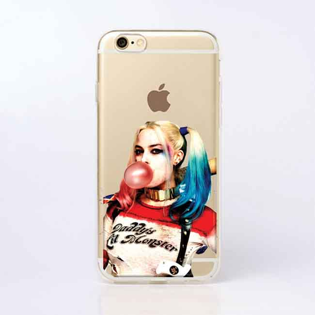 Suicide Squad Joker Harley Quinn Transparent Soft silicone TPU Phone Cases  Cover for iPhone 5 5S SE 6 6SPlus 7 7Plus 8 8Plus X-in Half-wrapped Case  from ... 8b5e8c3319f