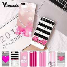 Yinuoda Colorful Flora Pink Love Heart Beautiful PhoneCase for iPhoneX 6 6s 7plus 8 8Plus XR XS XSMAX 5S11 11pro 11promax