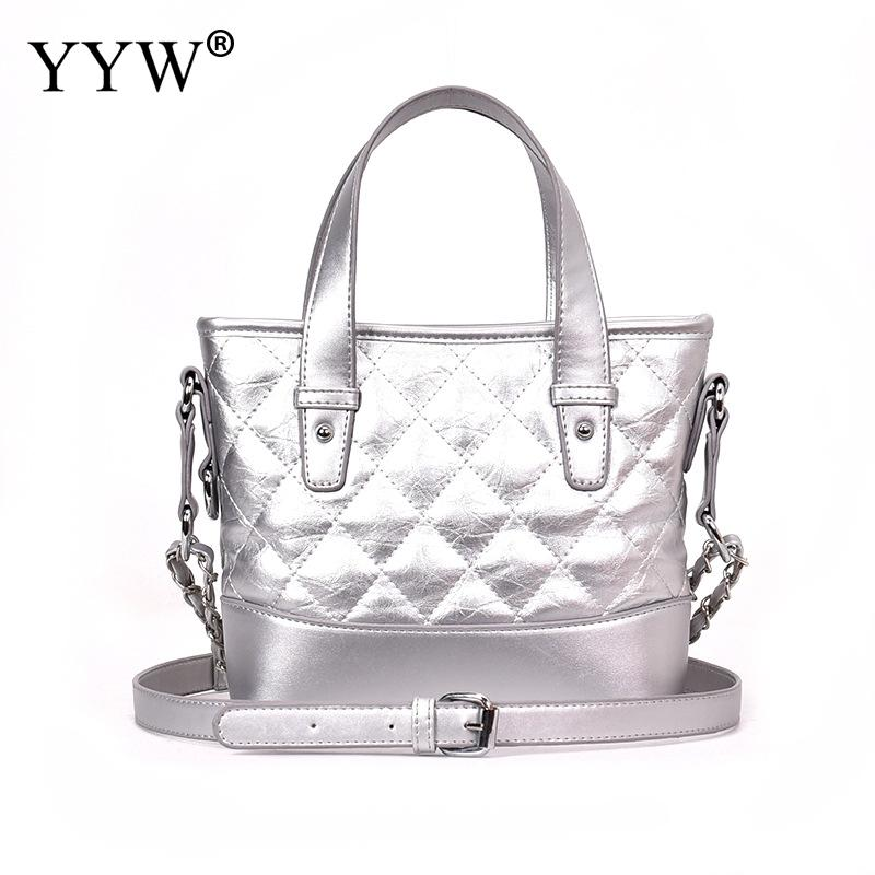 YYW Women Crossbody Bag Famous High Quality Ladies Messenger Bags Fashion Student Shoulder Bags Ladies Silver Zipper HandBags