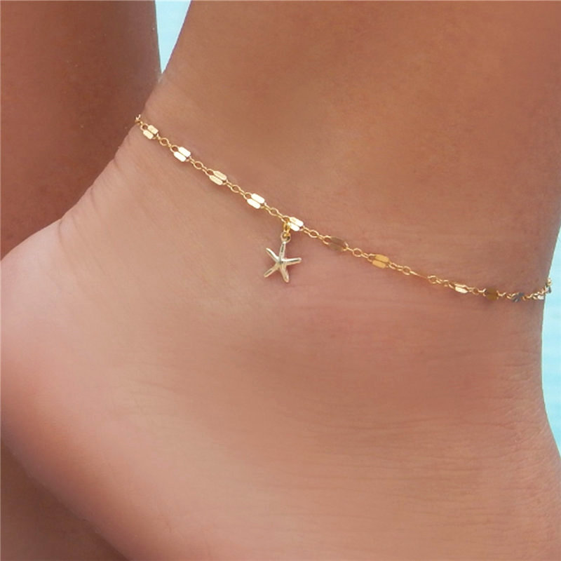 Star Female Anklets Barefoot Sandals Foot Jewelry Leg New Anklets On Foot Ankle Bracelets For Women Leg Chain Gift