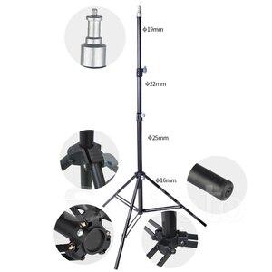"""Image 3 - Support de lumière en métal Photo 2m avec trépied 1/4 """"à vis 200cm pour 5kg Photo Studio Flash Softbox LED Support de fond déclairage vidéo"""