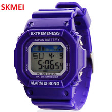 Skmei Fashion Digital Sports Outdoors Week Date 30M Waterproof Multifunction Time Jelly