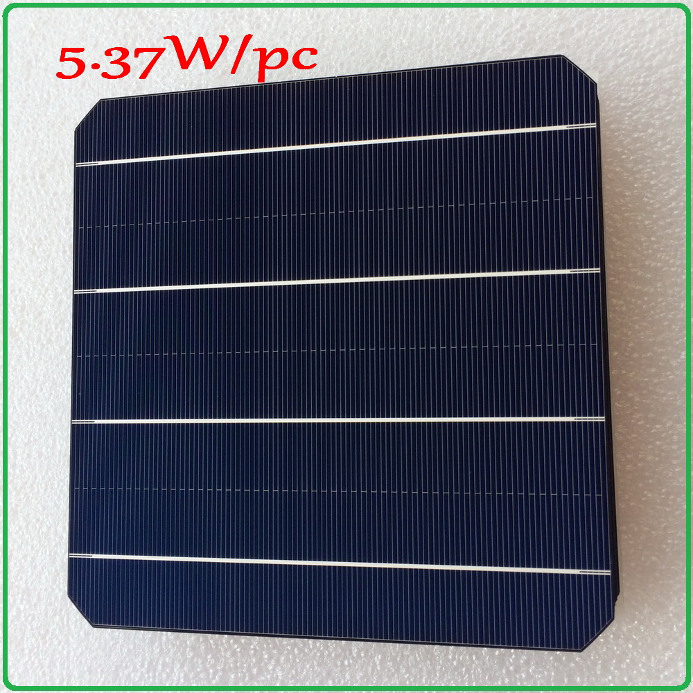 Mono solar cell panel 21.6% high efficiency 5.37W/pc enough power output A grade monocrystalline DIY solar panel cell 6x6