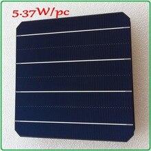 Mono solar cell panel 21.6% high efficiency 5.37W/pc enough power output A grade monocrystalline DIY solar panel cell 6x6