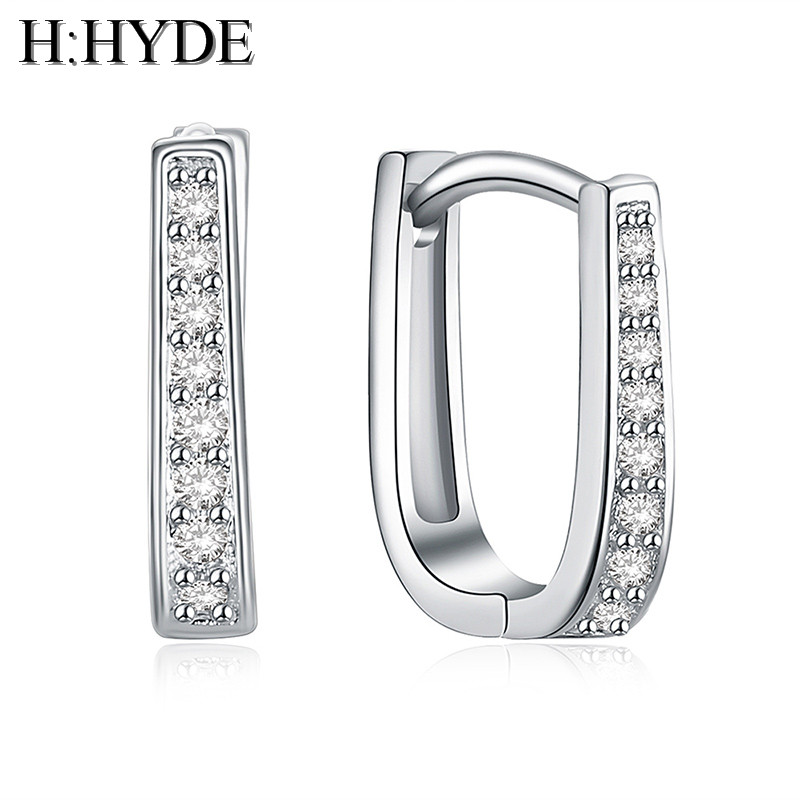 H:HYDE fashion sweet 1 pair Silver Color Earringss