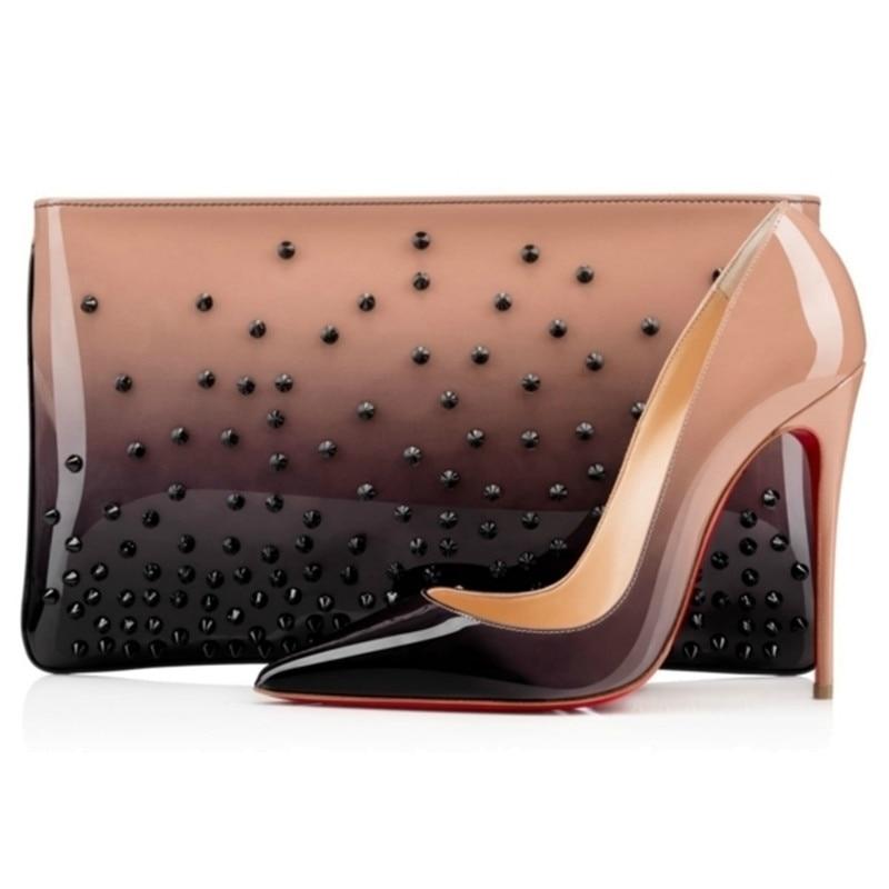 2019 marque de luxe chaussures femmes fond rouge talons hauts classique femme pompes